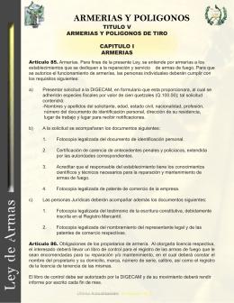 TITULO V ARMERIAS Y POLIGONOS DE TIRO