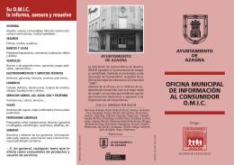 OFICINA MUNICIPAL DE INFORMACIÓN AL CONSUMIDOR O.M.I.C.