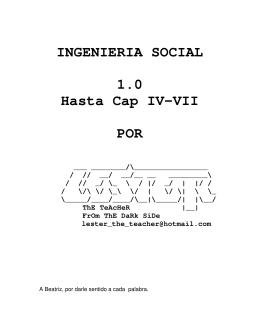 Curso Ingeniería Social