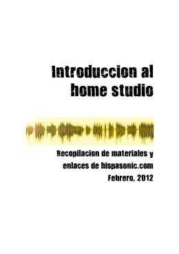 Introduccion al home studio