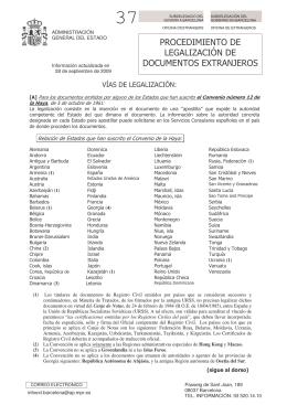 Procedimiento de legalización de documentos extranjeros