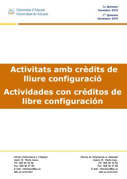 Actividades con Créditos de Libre Elección