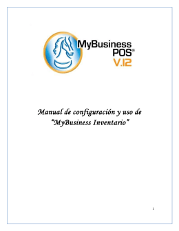 Manual MyBusiness Inventario
