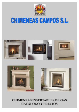 insertables - Chimeneas Campos. fabrica