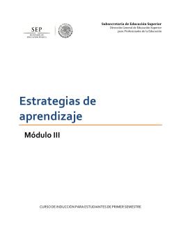 Módulo Tres: Estrategias de Aprendizaje