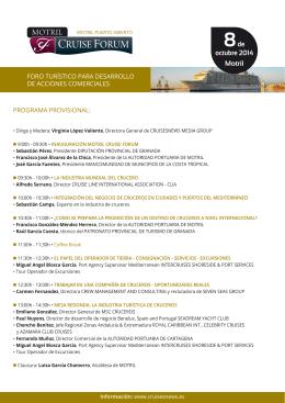 Programa del Motril Cruise Forum