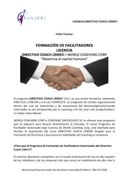 LICENCIA DIRECTIVO COACH LÍDER