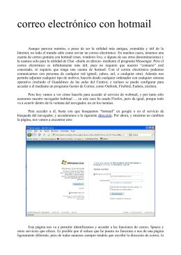 tutorial sobre como usar el webmail de Hotmail
