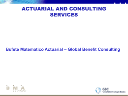 actuarial and consulting services - GBC
