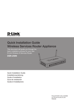 Quick Installation Guide Wireless Services Router