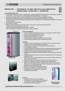 Calentadores de Agua Eléctricos para Aplicaciones