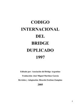 reglamento internacional de bridge duplicado