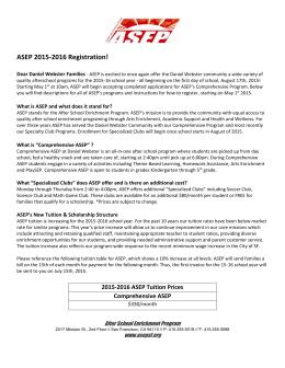 ASEP 2015-2016 Registration!