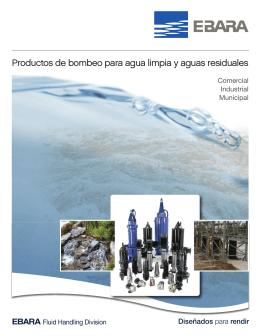Productos de bombeo para agua limpia y aguas residuales