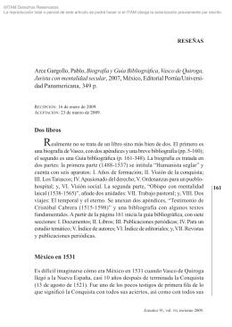 PABLO ARCE GARGOLLO, Biografía y guía bibliográfica, Vasco de