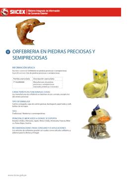 ORFEBRERIA EN PIEDRAS PRECIOSAS Y SEMIPRECIOSAS