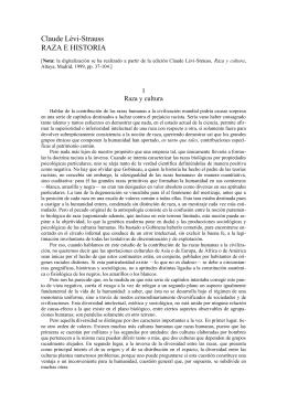 Claude Lévi-Strauss RAZA E HISTORIA