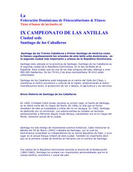 IX CAMPEONATO DE LAS ANTILLAS