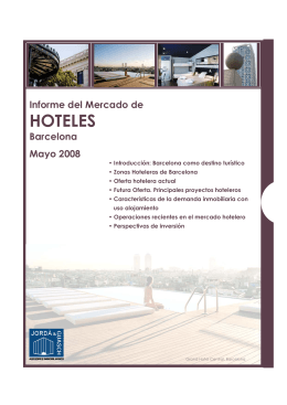 HOTELES - Gremi d`Hotels de Barcelona