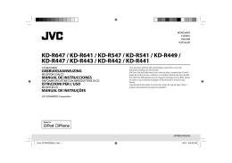 KD-R647 / KD-R641 / KD-R547 / KD-R541 / KD-R449 / KD