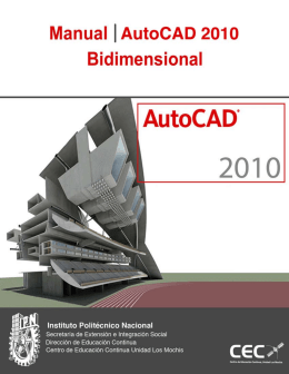 Manual AutoCAD 2009 Bidimensional