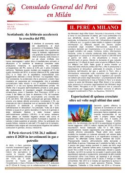 IL PERÙ A MILANO - Ministerio de Relaciones Exteriores