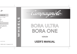 Manual de usuario ruedas Bora One tubular