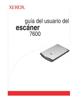 guía del usuario del escáner 7600