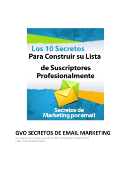 GVO SECRETOS DE EMAIL MARKETING