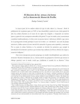 El discurso de las armas y las letras en La Araucana de Alonso
