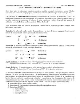 QM-1122 Reacciones de Oxidación – Reducción
