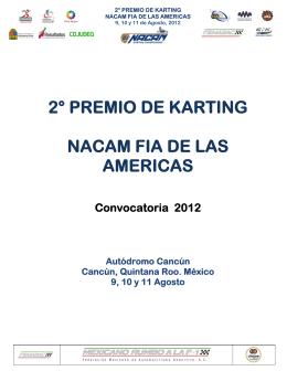 2° premio de karting nacam fia de las americas