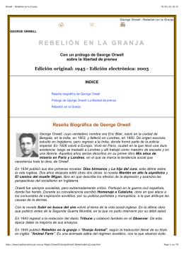 Orwell - Rebelión en la Granja