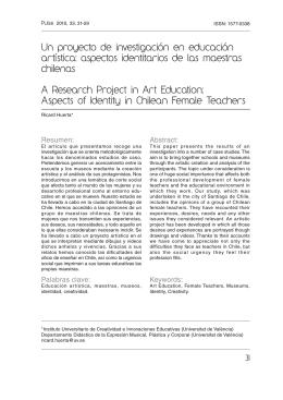 Un proyecto de investigación en educación artística: aspectos