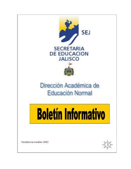 03 Octubre / Noviembre 2002 - Secretaría de Educación Jalisco