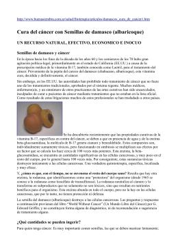 Tratamiento y detalles de la vitamina B17 (amigdalina)