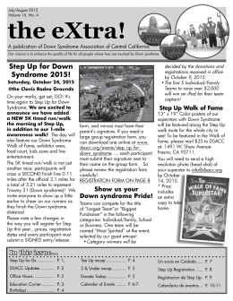 the eXtra! - Down Syndrome Association of Central California