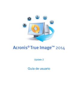 1.1 ¿Qué es Acronis® True Image™ 2014?