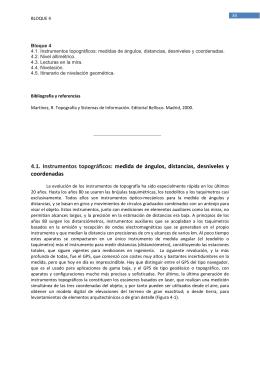 4.1. Instrumentos topográficos: medida de ángulos