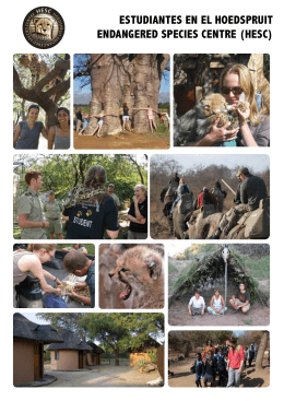 estudiantes en el hoedspruit endangered species centre (hesc)