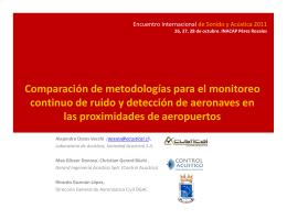 Comparación de metodologías para el monitoreo
