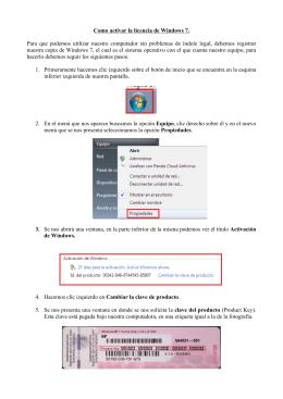 Como activar la licencia de Windows 7. Para que podemos utilizar