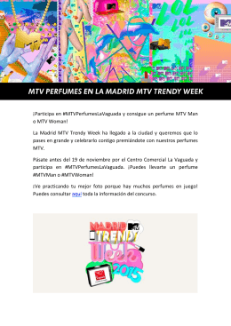 04/11/2015 MTV PERFUMES en la MADRID MTV TRENDY WEEK