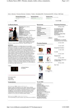 Page 1 of 3 La Buena Nueva 2008 - Pelicula, sinopsis, trailer, critica