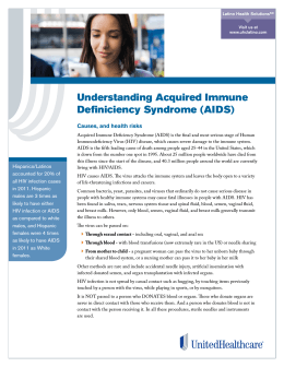 Understanding Acquired Immune Definiciency Syndrome (AIDS)