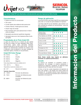 Informacion del Producto - FUJIFILM Sericol Global