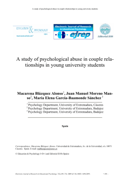 A study of psychological abuse in couple rela