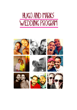 HUGO AND MARK``S WEDDING PROGRAM