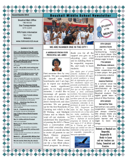 Boushall Middle School Newsletter