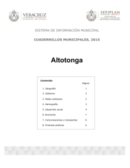 Altotonga - Gobierno del Estado de Veracruz